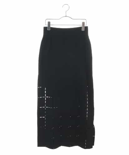 HIROKO KOSHINO(ヒロコ) スラッシュニットスカート ブラック 40