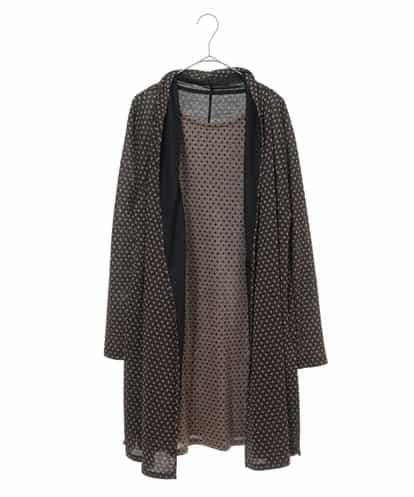 HIROKO KOSHINO(ヒロコ) 【洗える/日本製】小付きパターンデザインチュニック ブラック 38