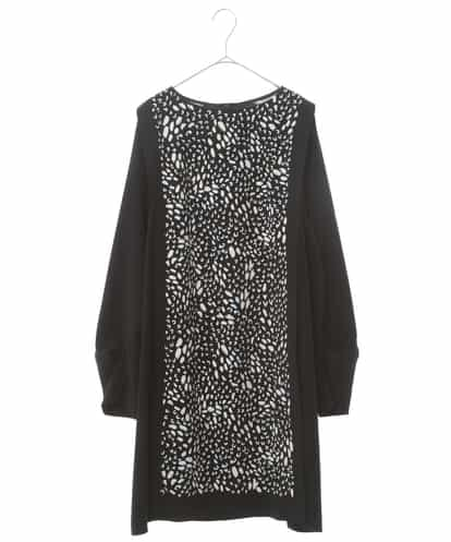 HIROKO KOSHINO(ヒロコ) 【洗える】タックスリーブデザインドレス ブラック 40