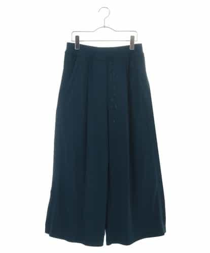 HIROKO KOSHINO(ヒロコ) 【洗濯機で洗える/日本製】ドライポンチリラクシーワイドパンツ ブルー 38