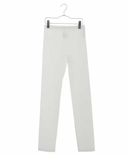HIROKO KOSHINO(ヒロコ) 【洗濯機で洗える/日本製】トリコットベーシックデザインレギンスパンツ ホワイト 40