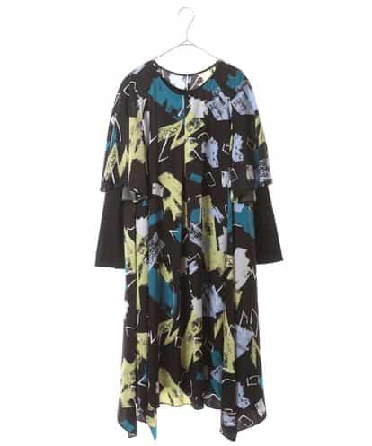 HIROKO BIS GRANDE(ヒロコビス ブランデ) 【洗濯機で洗える】デザインアートプリントドレス ブラック 17