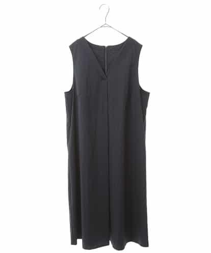 HIROKO BIS GRANDE(ヒロコビス ブランデ) 【洗濯機で洗える】ピンストライプVネックドレス ネイビー 15