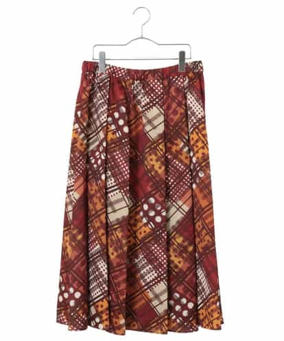 HIROKO BIS GRANDE(ヒロコビス ブランデ) 【洗濯機で洗える】ジオメトリックサーキュラースカート オレンジ 13