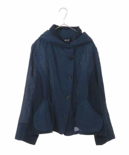 HIROKO BIS GRANDE(ヒロコビス ブランデ) 【洗える】リネン製品染めフーディジャケット ブルー 17
