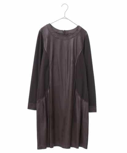 HIROKO BIS GRANDE(ヒロコビス ブランデ) 【洗える】異素材切り替えチュニック ダークブラウン 15