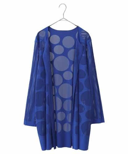HIROKO BIS GRANDE(ヒロコビス ブランデ) 【洗濯機で洗える/日本製】プリモーディアロングカーディガン ブルー 13