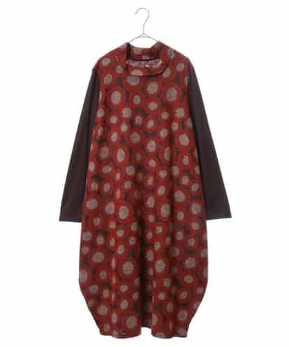 HIROKO BIS GRANDE(ヒロコビス ブランデ) 【日本製】デザインドットコクーンドレス ダークブラウン 15