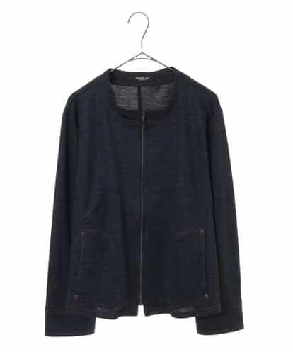 HIROKO BIS GRANDE(ヒロコビス ブランデ) 【洗える】デニムライクジップジャケット ネイビー 17