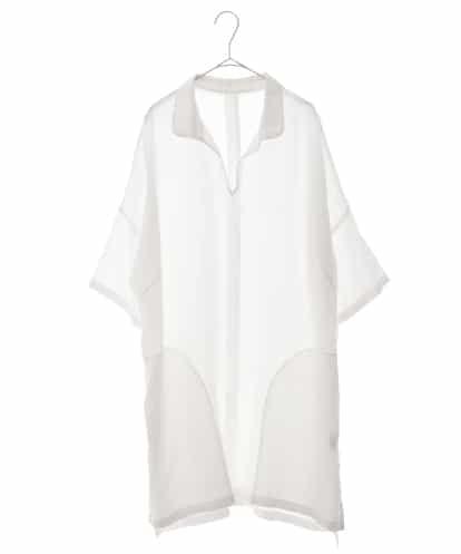 HIROKO BIS GRANDE(ヒロコビス ブランデ) 【洗える】リネン製品染めチュニックブラウス ホワイト 13