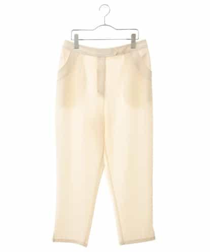 HIROKO BIS GRANDE(ヒロコビス ブランデ) 【洗濯機で洗える】ステッチテーパードパンツ ホワイト 17