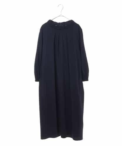HIROKO BIS GRANDE(ヒロコビス ブランデ) 【洗濯機で洗える】ブレーディング天竺ドレス ネイビー 17