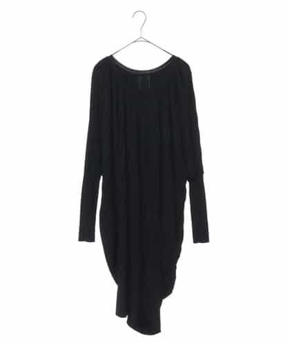 プリーツニットドレス ブラック 38