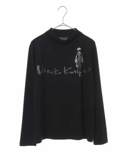 HIROKO KOSHINO(ヒロコ) 【洗える/日本製】デザインイラストプリントカットソー ブラック 40