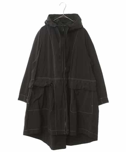 HIROKO KOSHINO(ヒロコ) 【洗える】パウダリータフタフードコート ブラック 38