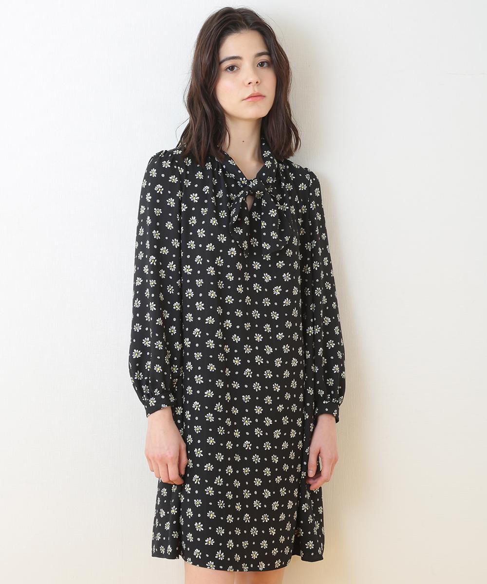 TARA JARMON(タラジャーモン) フラワープリントドレス ブラック 7
