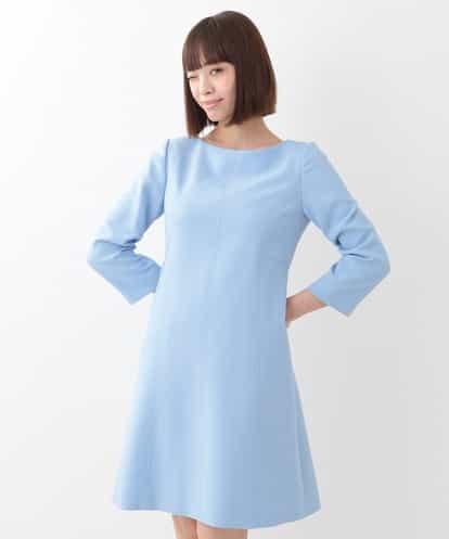 TARA JARMON(タラジャーモン) TOILE DOUBLE カラー切替ドレス ライトブルー 9