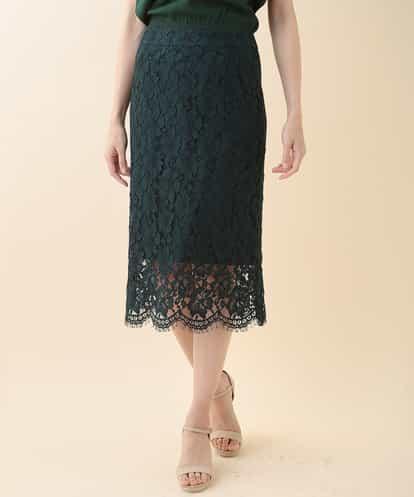 TARA JARMON(タラジャーモン) レースタイトスカート ネイビー 9