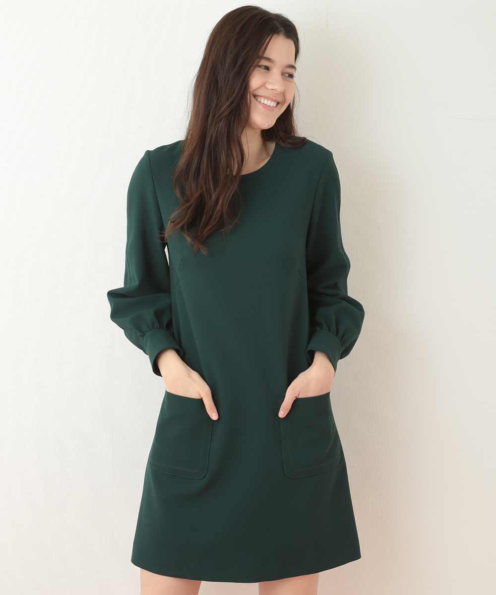 TARA JARMON(タラジャーモン) 【チャリティ】【メディア着用】定番 TOILE DOUBLE ドレス グリーン 38
