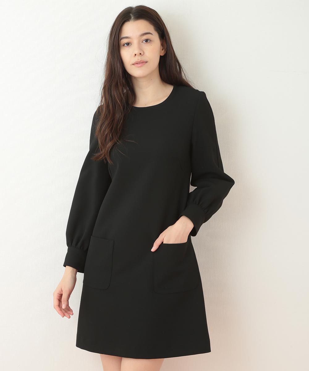 TARA JARMON(タラジャーモン) 【メディア着用】定番 TOILE DOUBLE ドレス ブラック 40