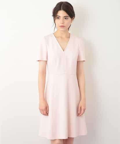 VZEGG07460  【定番】TOILE DOUBLE  Vネックジャージーワンピース IMPORTED【洗える】