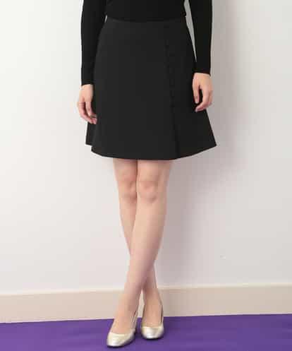 TARA JARMON(タラジャーモン) ボタンディールミニスカート ブラック 42