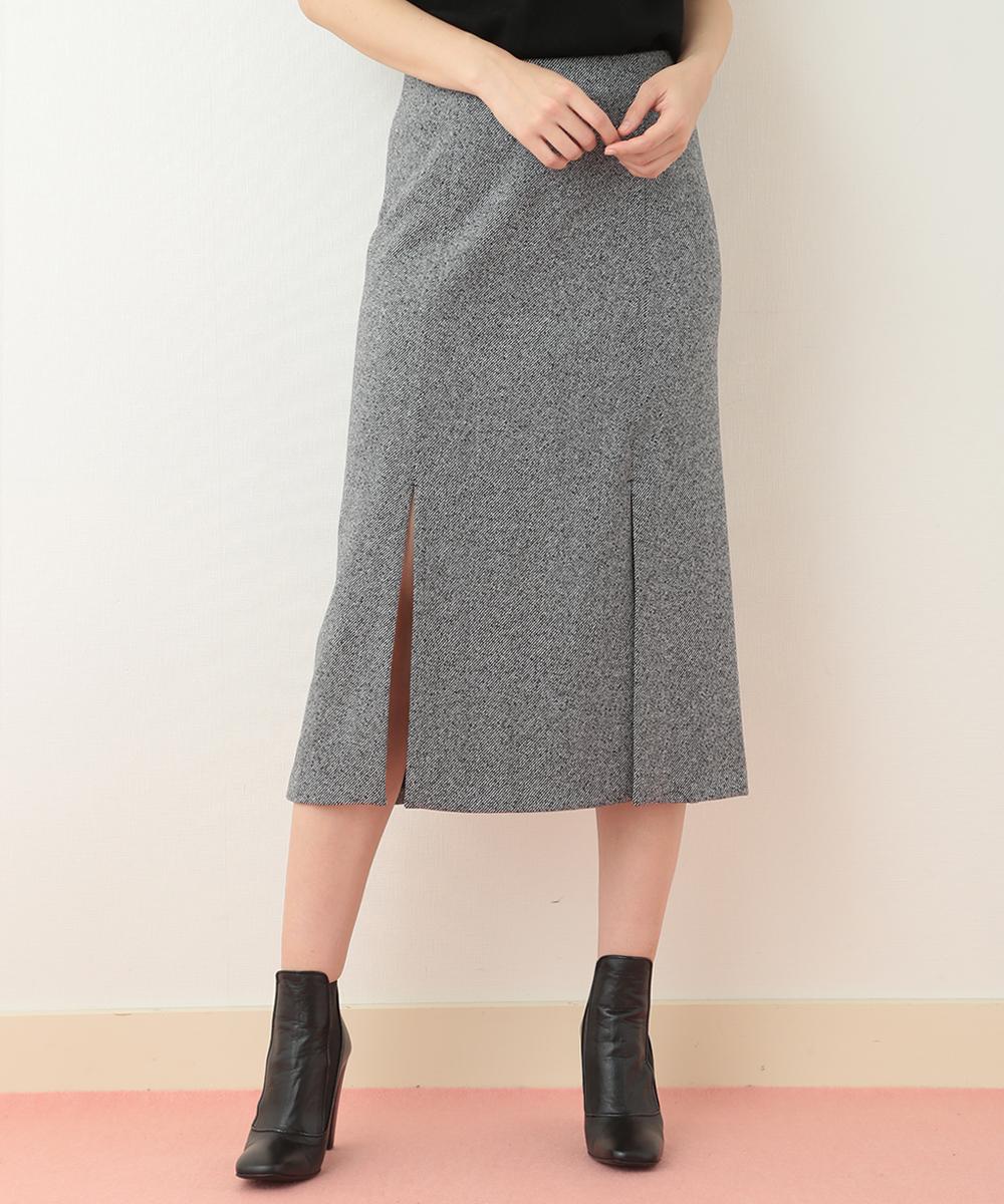 TARA JARMON(タラジャーモン) ミモレタイトスカート ブラック 40