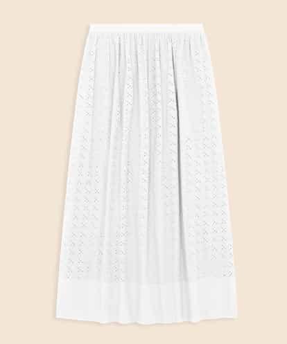 TARA JARMON(タラジャーモン) 【洗える】アイレットギャザースカート ホワイト 40
