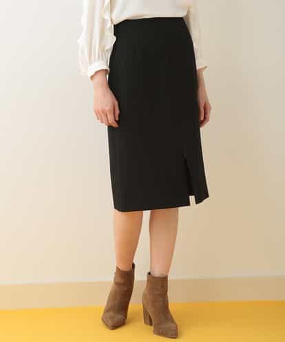 TARA JARMON(タラジャーモン) スリットタイトスカート ブラック 44